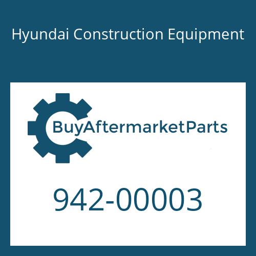 Hyundai Construction Equipment 942-00003 - DECAL-PLATE