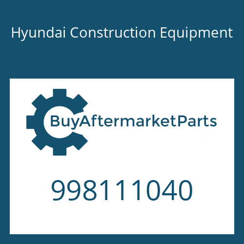 Hyundai Construction Equipment 998111040 - BOLT