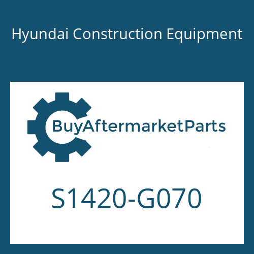 Hyundai Construction Equipment S1420-G070 - BOLT-SOCKET