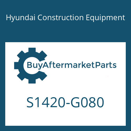 Hyundai Construction Equipment S1420-G080 - BOLT-HEX