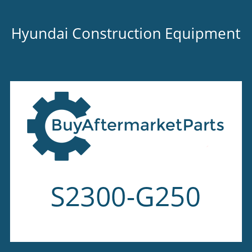 Hyundai Construction Equipment S2300-G250 - O-RING