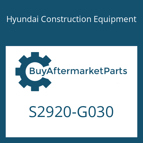Hyundai Construction Equipment S2920-G030 - WASHER