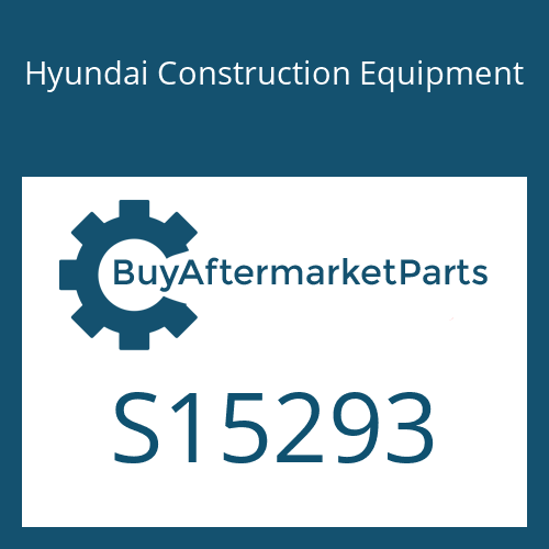 Hyundai Construction Equipment S15293 - SPACER