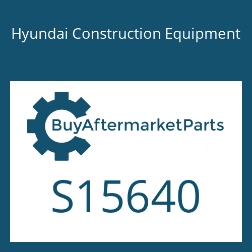Hyundai Construction Equipment S15640 - BUMPER-DOWNSTOP