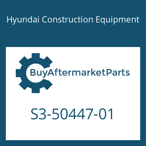 Hyundai Construction Equipment S3-50447-01 - SLEEVE-PLASTIC
