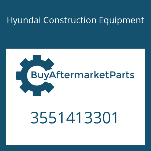 Hyundai Construction Equipment 3551413301 - SHAFT-INPUT