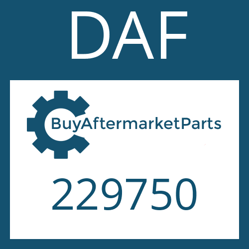 DAF 229750 - WASHER