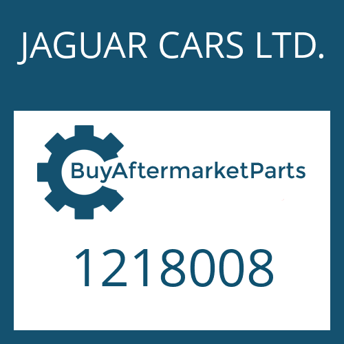 JAGUAR CARS LTD. 1218008 - NADELHUELSE