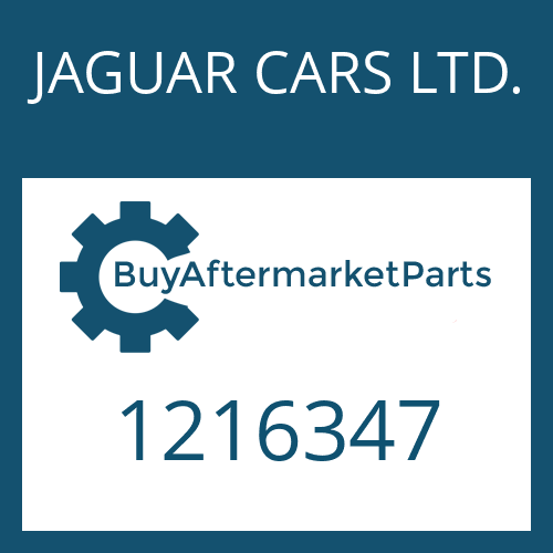 JAGUAR CARS LTD. 1216347 - LOCK WASHER