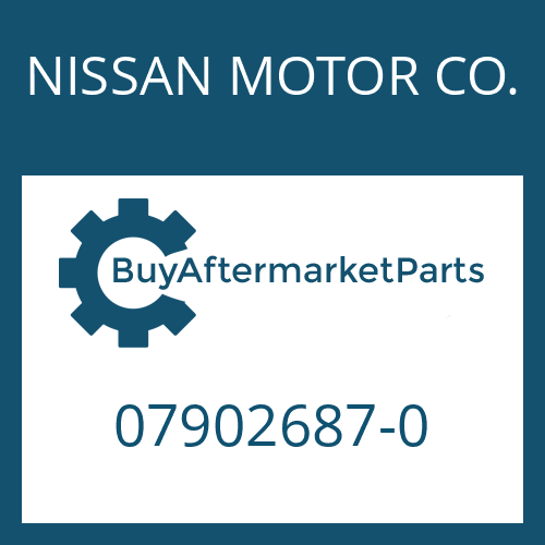 NISSAN MOTOR CO. 07902687-0 - HOUSING