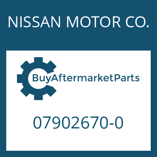 NISSAN MOTOR CO. 07902670-0 - SLIDING SLEEVE