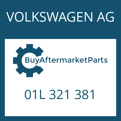 VOLKSWAGEN AG 01L 321 381 - DICHTUNG
