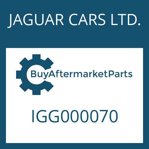 JAGUAR CARS LTD. IGG000070 - CONTROL UNIT