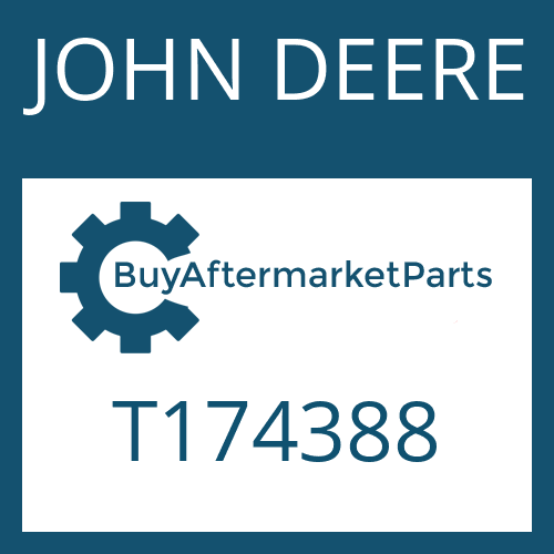 JOHN DEERE T174388 - OIL TUBE