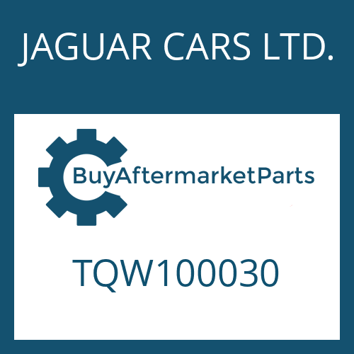 JAGUAR CARS LTD. TQW100030 - SAUGROHR