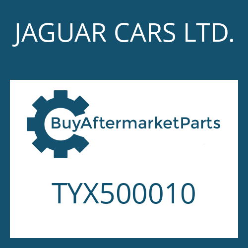 JAGUAR CARS LTD. TYX500010 - O-RING