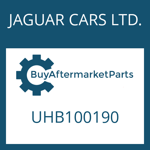 JAGUAR CARS LTD. UHB100190 - POSITION SWITCH