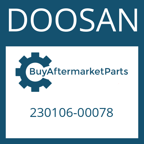 DOOSAN 230106-00078 - UNIVERSAL SHAFT
