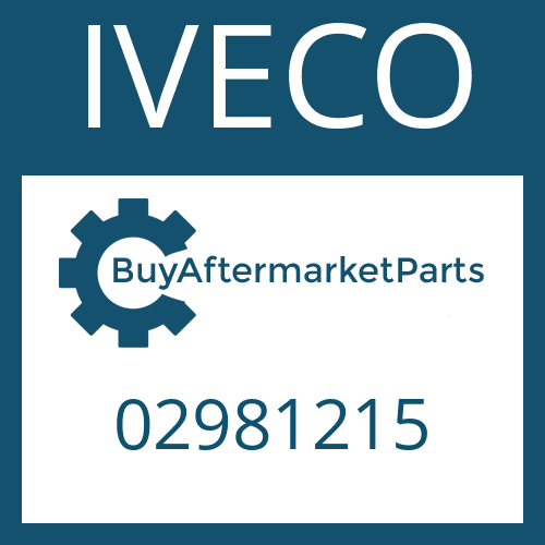 IVECO 02981215 - O-RING