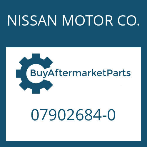 NISSAN MOTOR CO. 07902684-0 - SEALING RING