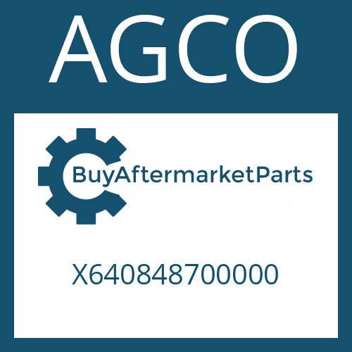 AGCO X640848700000 - AXIAL WASHER