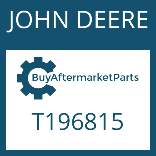 JOHN DEERE T196815 - CAP SCREW