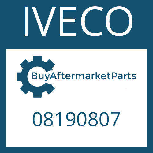 IVECO 08190807 - WASHER