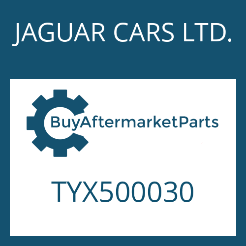 JAGUAR CARS LTD. TYX500030 - ROUND SEALING RING