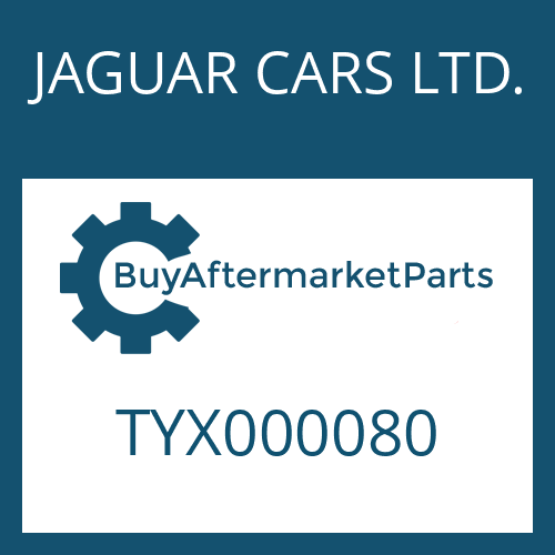JAGUAR CARS LTD. TYX000080 - WELLENDICHTRING