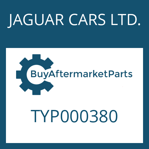 JAGUAR CARS LTD. TYP000380 - TORX SCREW