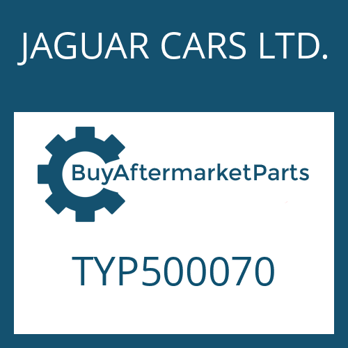 JAGUAR CARS LTD. TYP500070 - HEXALOBULAR DRIVING SCREW