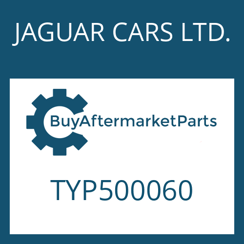 JAGUAR CARS LTD. TYP500060 - HEXALOBULAR DRIVING SCREW
