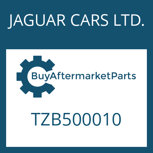 JAGUAR CARS LTD. TZB500010 - SHAFT SEAL