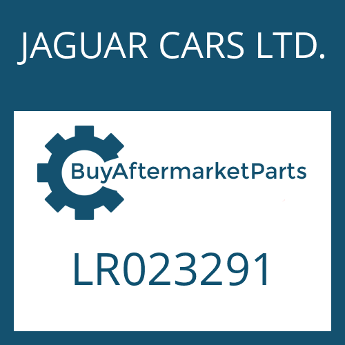 JAGUAR CARS LTD. LR023291 - SEAL KIT