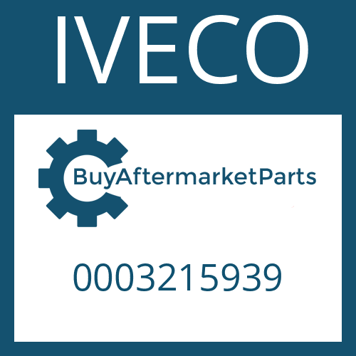 IVECO 0003215939 - FILTER