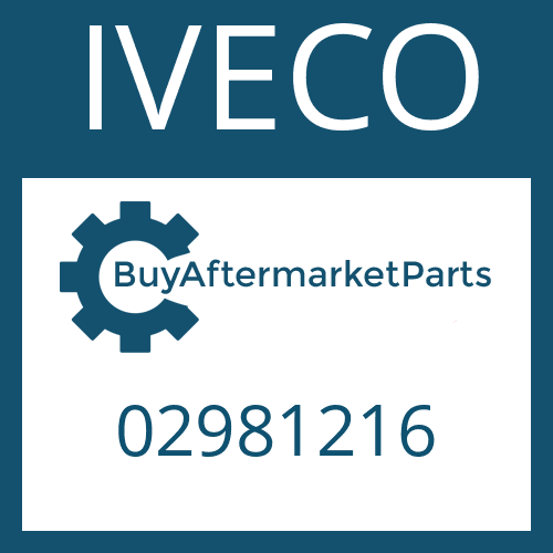 IVECO 02981216 - DISTRIBUTOR COVER