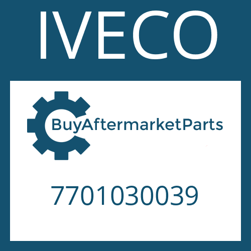 IVECO 7701030039 - MAIN SHAFT