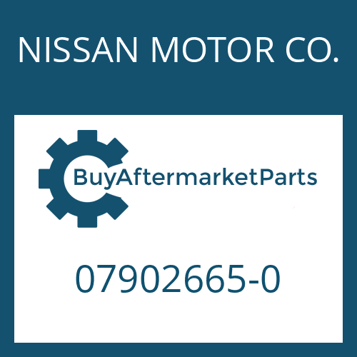 NISSAN MOTOR CO. 07902665-0 - HELICAL GEAR