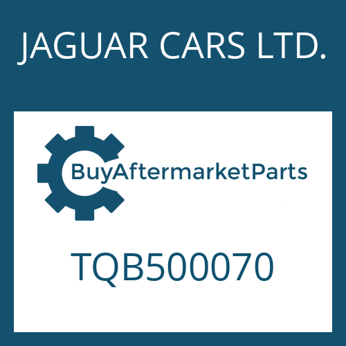 JAGUAR CARS LTD. TQB500070 - WANDLER