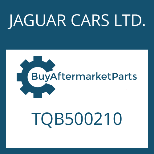 JAGUAR CARS LTD. TQB500210 - WANDLER