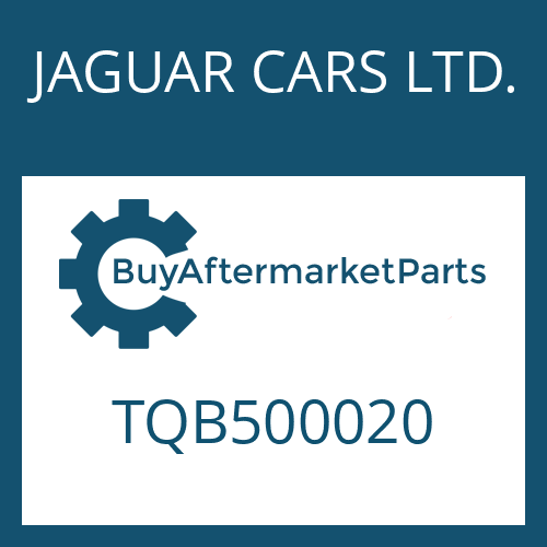 JAGUAR CARS LTD. TQB500020 - CONVERTER
