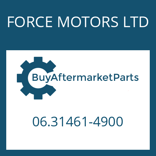 FORCE MOTORS LTD 06.31461-4900 - KUGELLAGER