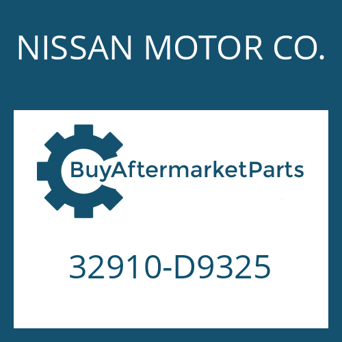 NISSAN MOTOR CO. 32910-D9325 - GEAR SHIFT SHAFT