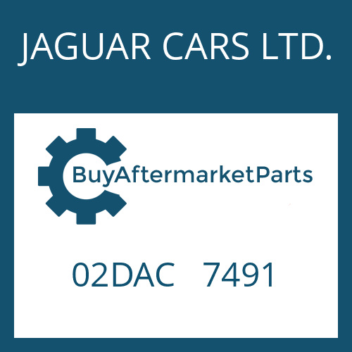 JAGUAR CARS LTD. 02DAC   7491 - CONTROL UNIT