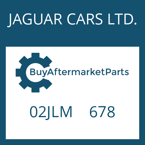 JAGUAR CARS LTD. 02JLM    678 - WASHER