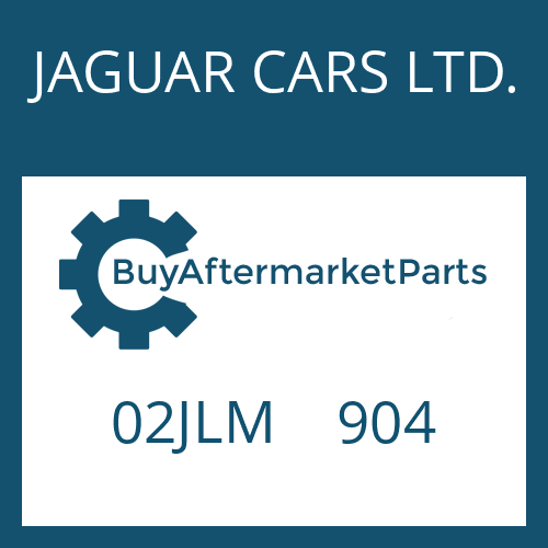 JAGUAR CARS LTD. 02JLM    904 - ROUND SEALING RING