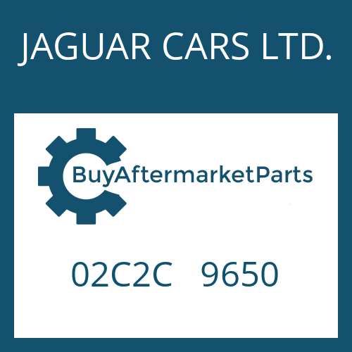 JAGUAR CARS LTD. 02C2C   9650 - HEXALOBULAR DRIVING SCREW