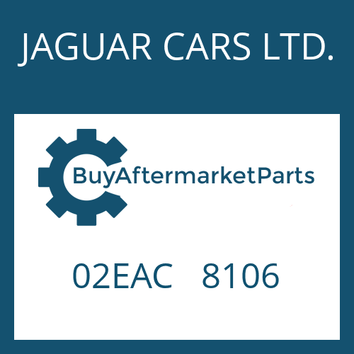 JAGUAR CARS LTD. 02EAC   8106 - REGLER