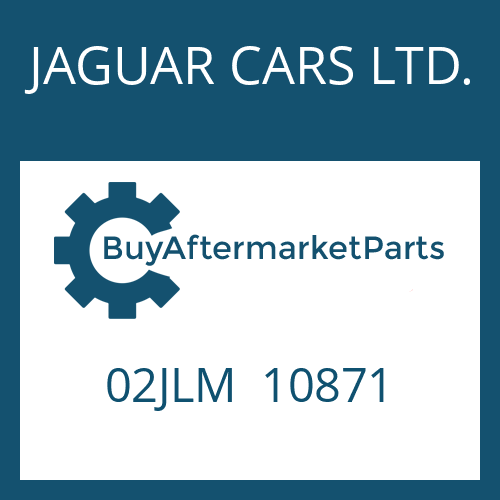 JAGUAR CARS LTD. 02JLM  10871 - BELAGLAMELLE