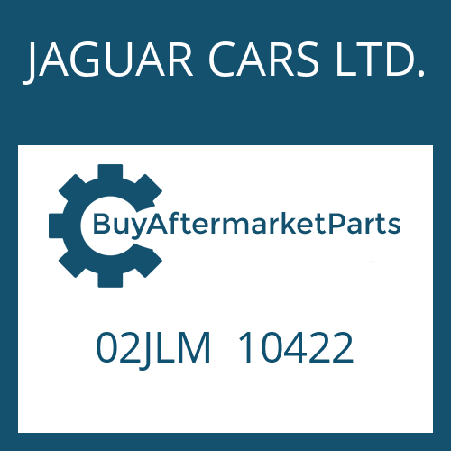 JAGUAR CARS LTD. 02JLM  10422 - END DISC